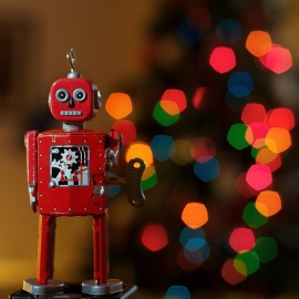 Let us be the robot to churn out holiday gift ideas! (photo credit: Robert Parviainen / from Flickr, part of Creative Commons)