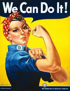 "J. Howard Miller's ""We Can Do It!"" poster from 1943. Image Credit: United States National Archives and Records Administration"