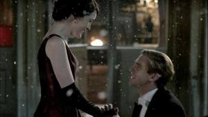 Matthew proposes to Mary on a snowy evening. Image Credit: PBS Television
