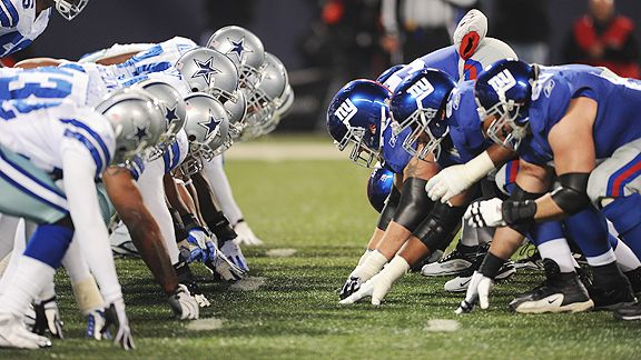 The Dallas Cowboys and the New York Giants are gearing up for kickoff this Wednesday. Who will be the victor of the night? Credit: AP Photo/Evan Pinkus