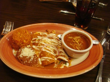 The Enchiladas de Carne from the Adobo Grill in Indianapolis. Image Credit: Tania Hussain