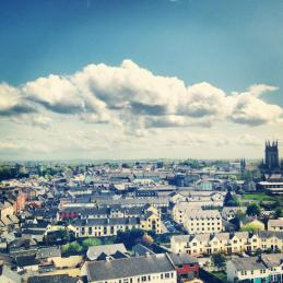 Kilkenny, Ireland from St. Canice's Round Tower (2013). Image credit: Kathleen Horgan.