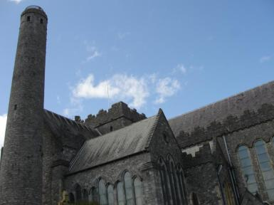 St. Canice's Cathedral and Round Tower in Kilkenny, Ireland (2013). Image credit: Kathleen Horgan.