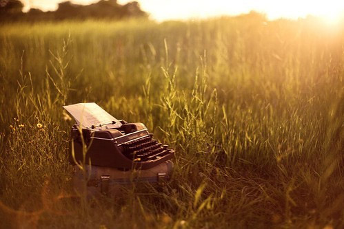 Typewriter WeHeartIt Sunset