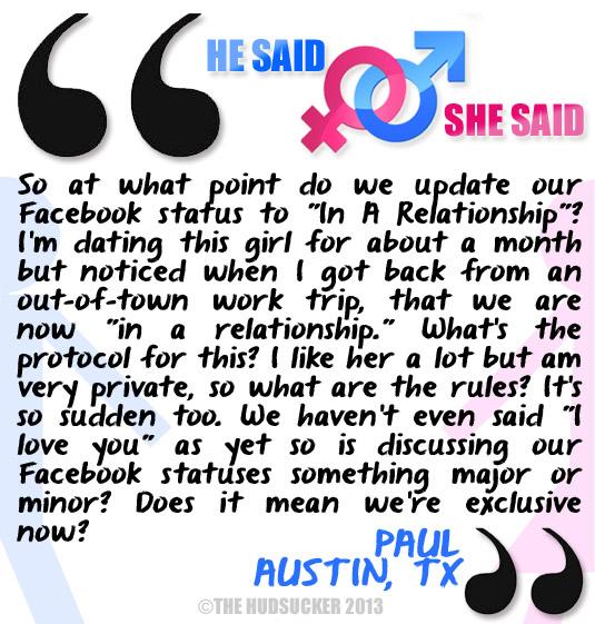 He Said She Said - Paul August 28 2013