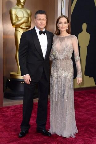 Brad Pitt: Tom Ford // Angelina Jolie: Elie Saab