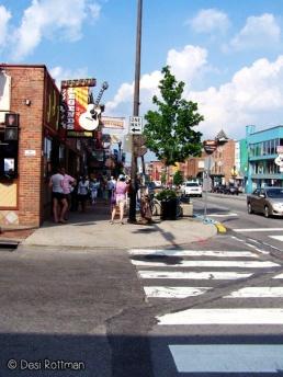 Exploring downtown Nashville.