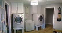 Panorama of our newly finished laundry room