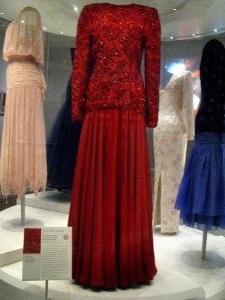 Princess Diana's gowns at Kensington Palace