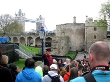 Tower Of London with Tower Bridge in the Distance