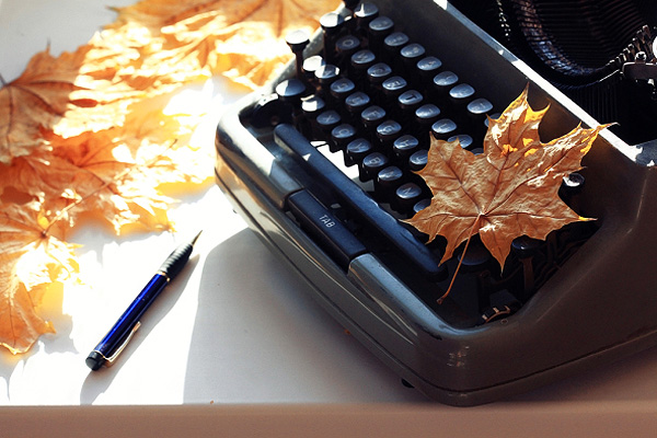 Autumn typewriter