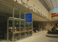 The trophy cases lined with the portraits of winners
