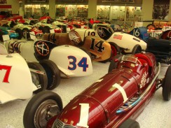 Up front is a Boyle Special from Maserati. Maserati claimed victory at the Indianapolis Motor Speedway two years running in 1939 and 1940.