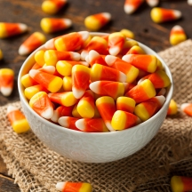 Colorful Candy Corn for Halloween on a Background