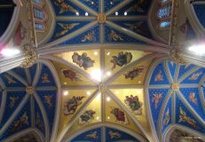 Painted ceilings.