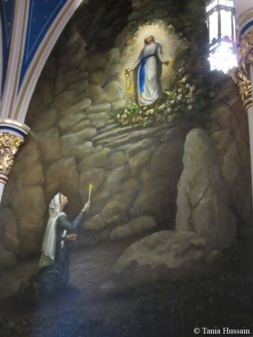St. Bernadette Sees Blessed Mary