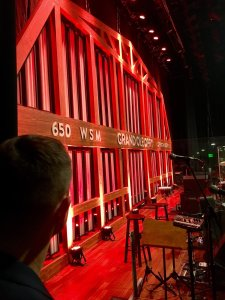Season 15 winner Trent Harmon looks onto the Opry stage before his big debut [Credit: Trent Harmon]