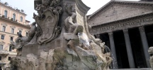 fontana fountain pantheon rome italy