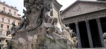 fontana fountain pantheon rome italy