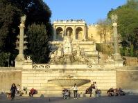 fontana fountain della dea di roma popolo rome italy
