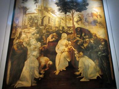 Uffizi Da Vinci Adoration Magi