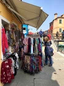 Lace and scarves in Burano, Italy