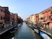 The canal of Murano in Italy