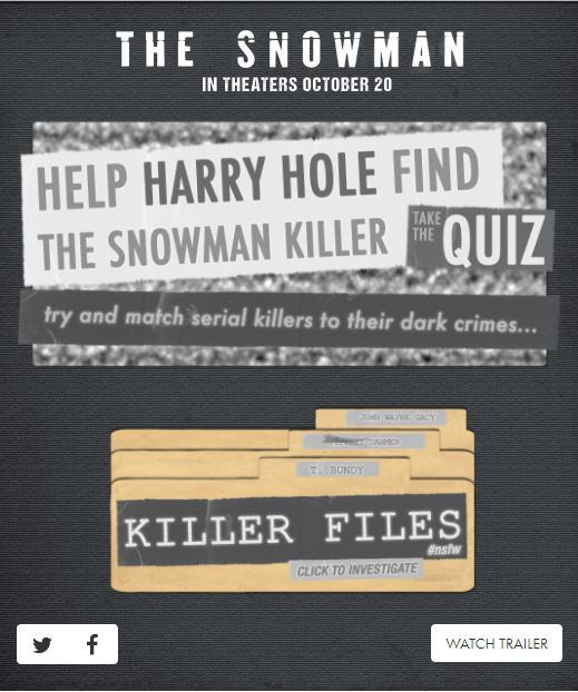 {Click above to take the quiz 'Help Harry Hole Find The Snowman Killer' Quiz and share your results with us on social media.}