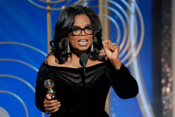 Oprah Winfrey at the 75th Annual Golden Globe Awards