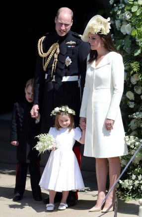 Prince William and his wife in attendance with their two children, Prince George and Prince Charlotte.