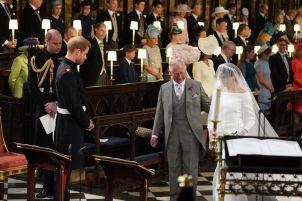 Prince Charles walks Meghan Markle down the aisle