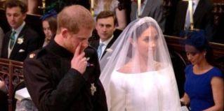 Prince Harry sheds a tear