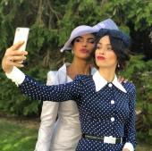 BFFs of the bride, Priyanka Chopra and Abigail Spencer
