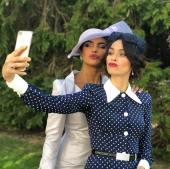 BFFs of the bride, Priyanka Chopra and Abigail Spencer