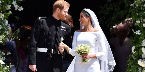 Prince Harry and Meghan Markle exchange the look of love